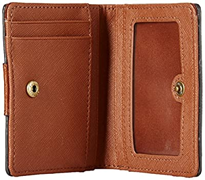 Fossil Emma Rfid Mini Wallet White With Black Wallet