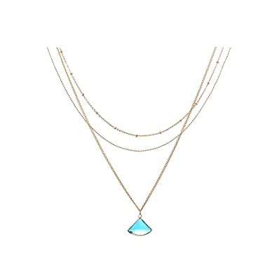 haute couture détaillant vente chaude en ligne Joeyan Bleu Cristal Fan Diva Colliers Bijoux Multirang ...