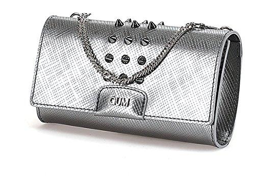 Gum Gianni Chiarini , Damen Clutch Grau Iron