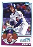 #10: 2018 Topps '83 Topps #83-1 Ryne Sandberg Chicago Cubs Baseball Card