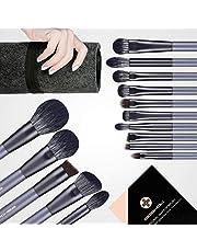 Makeup Brush Set, EIGSHOW 15 Piece Professional Makeup Brushes Kit with Corn Silk Fiber Vegan Brushes for Foundation Powder Concealers Eye Shadows Liquid Kabuki Brushes…