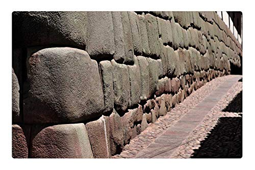 Tree26 Indoor Floor Rug/Mat (23.6 x 15.7 Inch) - Stones Cusco Cuzco City of Cuzco Peru
