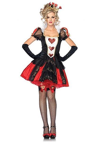 ZHCS 2019 SeñOrita Disfraz De Halloween Sexy Big Heart Queen Dress ...