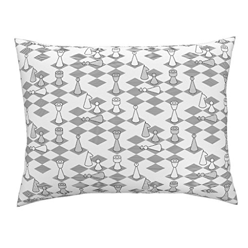 Sateen Cotton Bishops - Roostery Toile Euro Knife Edge Pillow Sham Murder On The Chess-Board by Sef Natural Cotton Sateen Made