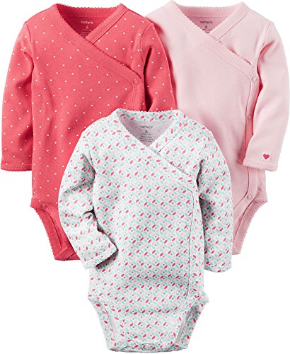 Carters Baby Girls 3 Pack Bodysuits