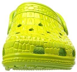 crocs 12109 Crockskin K Clog (Toddler/Little kid),Volt Green/Burst,4 M US Toddler