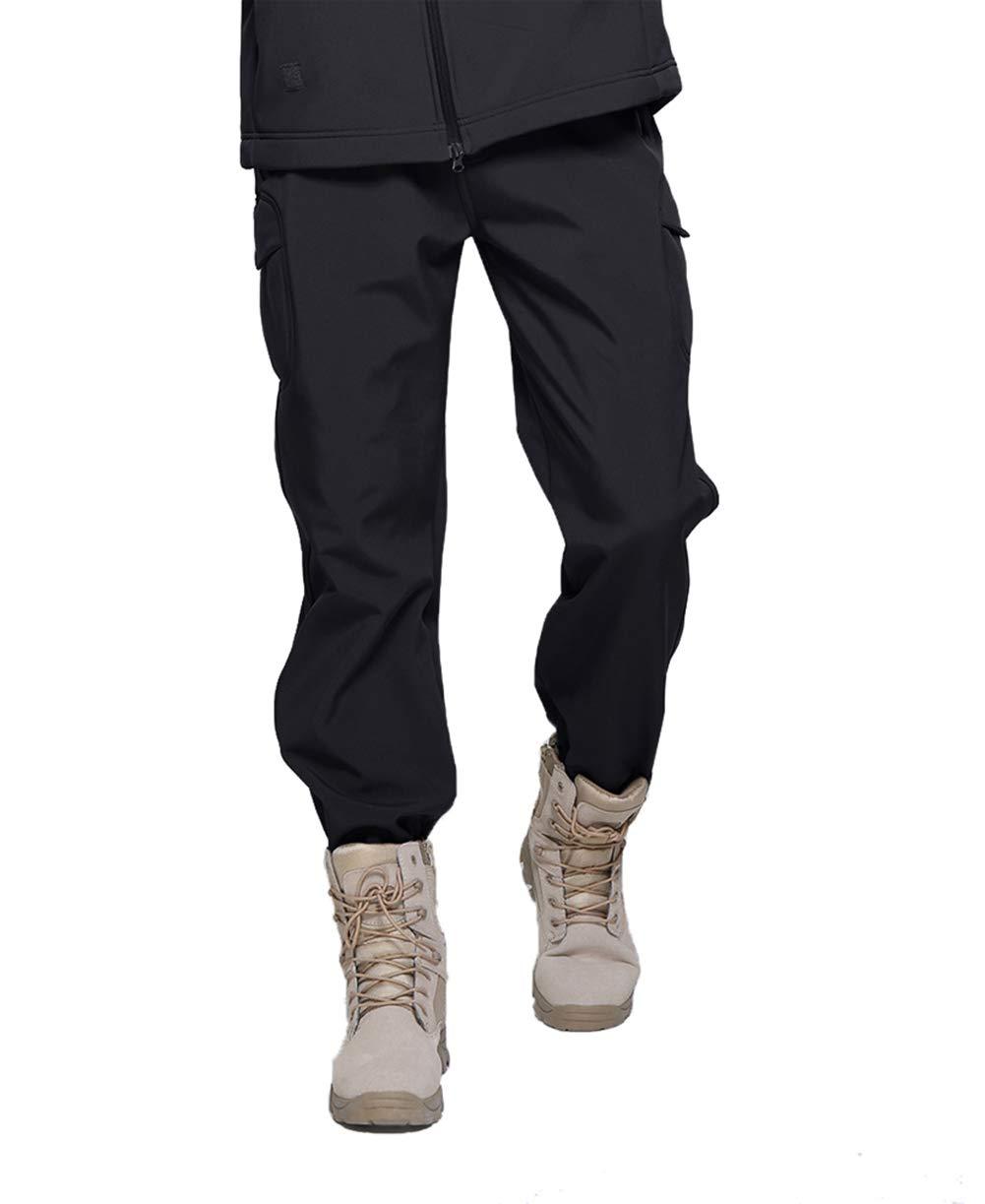 TACVASEN Herren Tactical Military Hose Fleece Futter Softshell Hose