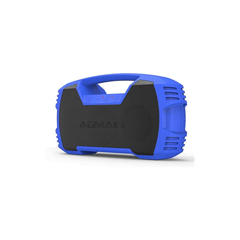 AOMAIS GO Bluetooth Speakers,Waterproof Portable Indoor/Outdoor 30W Wireless Stereo Pairing Booming Bass Speaker,30-Hour Playtime with 8800mAh Power Bank,Durable for Home Party (Blue)