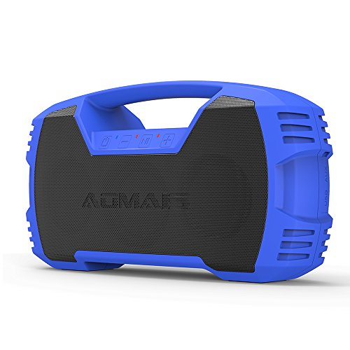 AOMAIS GO Bluetooth Speakers,Waterproof Portable Indoor/Outdoor 30W Wireless Stereo Pairing Booming Bass Speaker,30-Hour Playtime with 8800mAh Power Bank,Durable for Pool Party,Beach,Camping(Blue) by AOMAIS