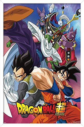"Trends International Dragon Ball: Super - Group Wall Poster, 22.375"" x 34"", White Framed Version"