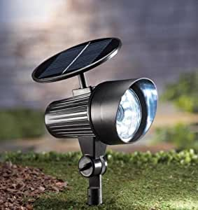 Black New Solar Powered Motion Sensor Security light 12 LED Garage Outdoor