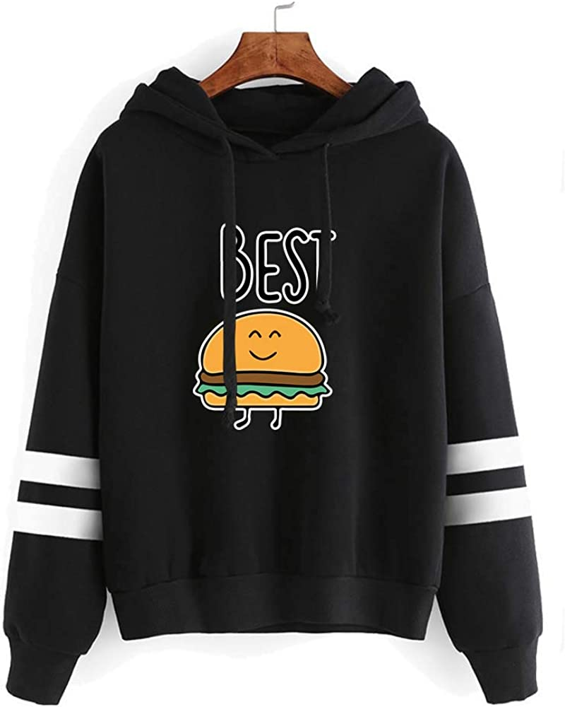 Best Friend Hoodies for Women-Family Matching 2 Outfits Gifts Funny Graphic Food Clothing Long Sleeve Pullover Sweatshirt