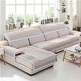 Z&HX Sofa Set Corner Sofa Set Hemp,Lattice/Sofa Four Seasons/Wear-Resistant,Anti Dirty/Import(3&2 Seater),A
