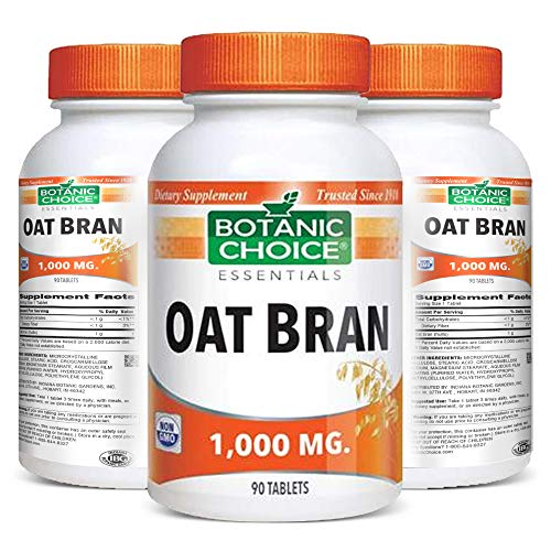 Botanic Choice Oat Bran – Adult Daily Supplement – Delivers Soluble Fiber Supports Cholesterol in The Normal Range and Cardiovascular Health Promotes Healthy Lifestyle and Overall Wellness