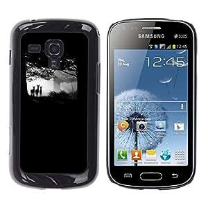 Caucho caso de Shell duro de la cubierta de accesorios de protección BY RAYDREAMMM - Samsung Galaxy S Duos S7562 - Forest Black Deer Baby Cub Nature