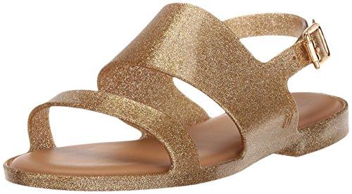 Mini Melissa Girls' Mel Classy Sandal, Gold Glitter, 13 M US Little Kid