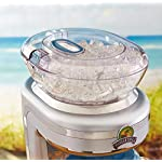 Margaritaville Key West Frozen Concoction Maker with Easy Pour Jar and XL Ice Reservoir 10 Makes up to 2.5 pitchers of frozen concoctions thanks to its extra-large ice reservoir Creates premium shaved ice rather than crushed ice like a blender, for an authentic frozen concoction experience. Key West Frozen Concoction Maker with 36-ounce blending jar for creating fun, tropics-inspired party drinks Includes 4 pre-programmed drink settings, plus automatic shave 'n blend cycle and manual blend only/shave only cycles