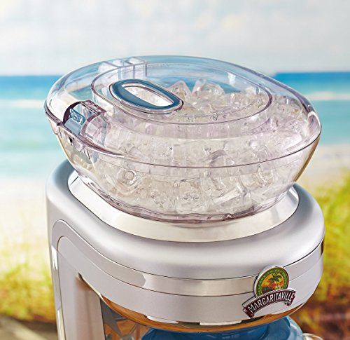 Margaritaville Key West Frozen Concoction Maker with Easy Pour Jar and XL Ice Reservoir 2 Makes up to 2.5 pitchers of frozen concoctions thanks to its extra-large ice reservoir Creates premium shaved ice rather than crushed ice like a blender, for an authentic frozen concoction experience. Key West Frozen Concoction Maker with 36-ounce blending jar for creating fun, tropics-inspired party drinks Includes 4 pre-programmed drink settings, plus automatic shave 'n blend cycle and manual blend only/shave only cycles
