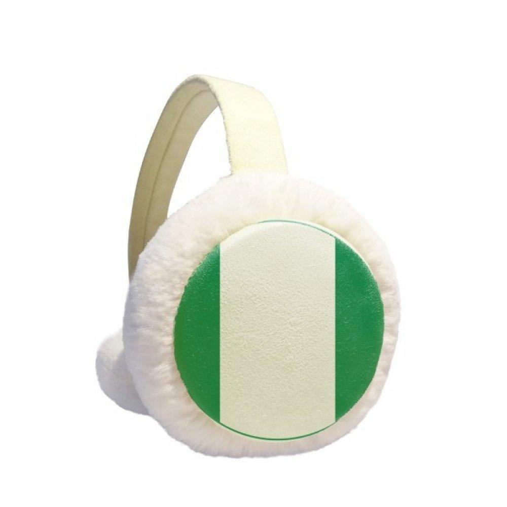 Nigeria Africa National Emblem Winter Earmuffs Ear Warmers Faux Fur Foldable Plush Outdoor Gift