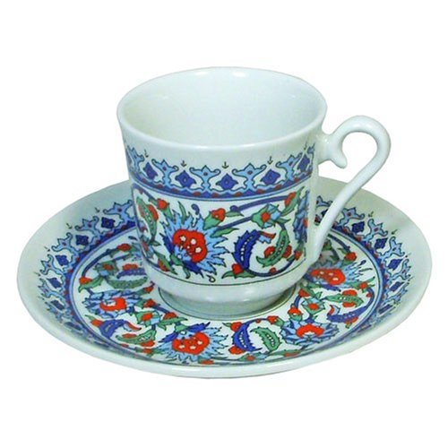 Turkish Coffee Cup and Saucer (6 Sets) 12 Pieces by Gural Pasabahce SYNCHKG011297