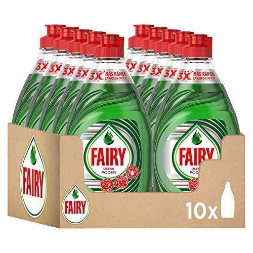 chollos oferta descuentos barato Fairy Ultra Poder Líquido Lavavajillas 10 x 450 ml Fórmula Efectiva que Deja los Platos Relucientes Óptimo Poder Antigrasa
