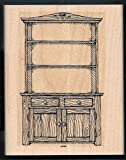 Rubber Stamp Frames Country Cupboard Hutch Dry Sink Cabinet Wood Love Bakes Rubber Stamp