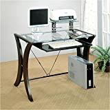 Coaster-800445-Division-Table-Desk-with-Glass-Top-Cappuccino