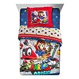 Nintendo Super Mario 'Odyssey Fun' 2 PC Kids Twin/Full Comforter Sham - Please