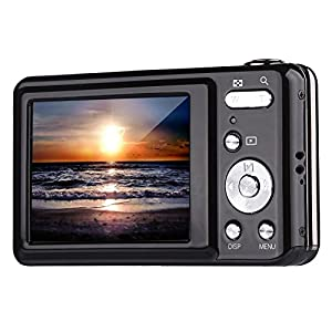 Digital Camera,Vicatta 2.7 Inch TFT 5X Optical Zoom 15MP 1280 X 960 HD Anti-shake Smile Capture Digital Video Camera--Black
