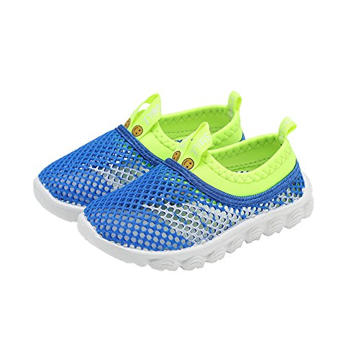 CIOR Kids Light Weight Sneakers AquaShoes Breathable Slip-on For Running Pool Beach Toddler / Little Kid,S633Blue,32 7