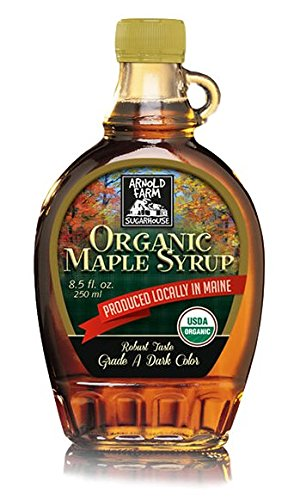 Organic Maine Dark Maple Syrup - Arnold Farm Sugar House 8.5oz Glass Bottle - 100% Pure, Wild-Crafted in Small Batches with Grade 'A' Robust Flavor | Maine's ONLY Organic Maple Syrup on Amazon!