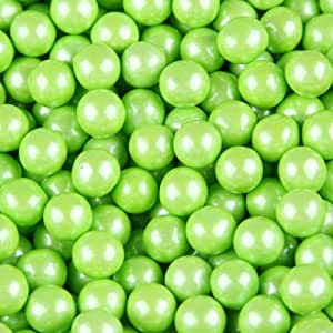 Lime Green Pearl Sixlets 2.5 Pound Candy Coated Chocolate Balls