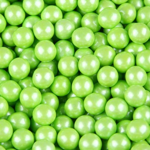 Milk Chocolate Lime (FirstChoiceCandy Sixlets Milk Chocolate Balls (Shimmer Lime Green, 2 LB))