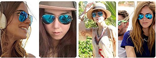 Gafas Color la Lady de Sol de Aviator de de Sol Deslumbrantes B Gafas Película Skyeye waFHYY