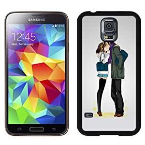 Beautiful Custom Designed Cover Case For Samsung Galaxy S5 I9600 G900a G900v G900p G900t G900w With Comics Lovers Kissing Phone Case Cover