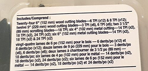Mastercraft Assorted 50 Piece Reciprocating Saw Blades all in a Set. 9, 6, 4, 3.5 inch kit for cutting through wood, metal, pipe, plastic, and rebar. Great for pruning too! by Mastercraft (Image #2)