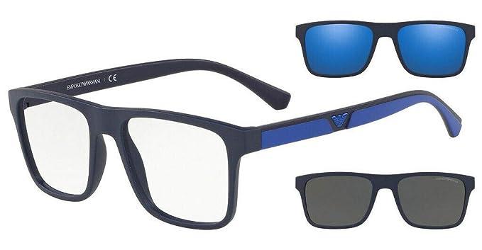 Emporio Armani 0EA4115 Gafas de Sol, Matte Dark Blue, 54 ...