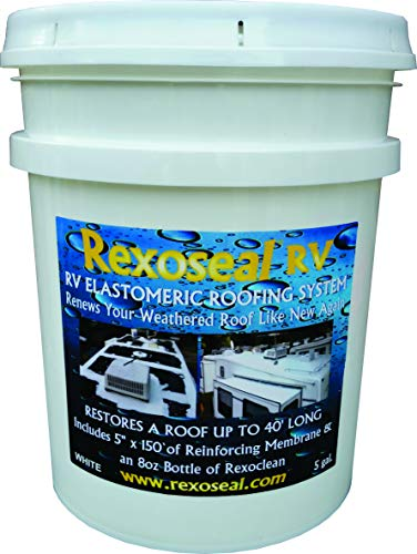 Rexoseal-Roof-Restoration-Kit-and-Waterproofing-System-5gal-for-Trailers-RV-up-to-40-feet-Water-Based-ecofriendly