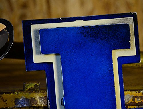 Gear New University of Kentucky 3D Vintage Metal College Man Cave Art, Large, Blue/White/Brown by Gear New (Image #7)