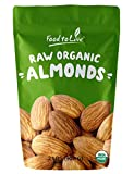 Raw Organic Almonds Bulk by Food to Live (Non-GMO, No Shell, Whole, Unpasteurized, Unsalted, Kosher) — 2 Pounds For Sale