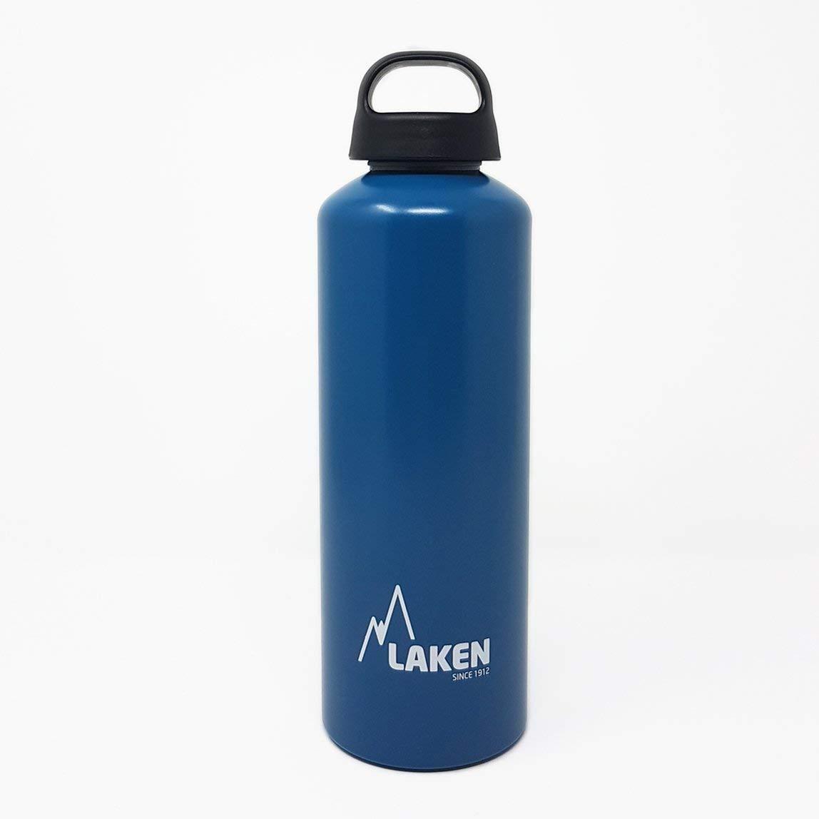 Laken Botella de Agua de Aluminio Classic con Tap/ón de Rosca y Boca Ancha 1L Azul Claro