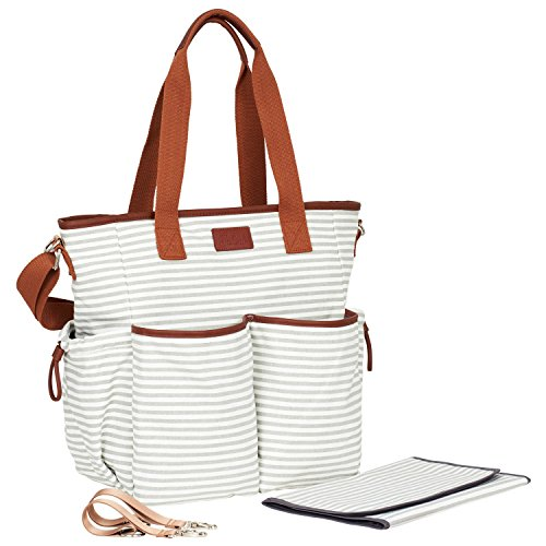 Stripe Baby Diaper Bag - 7