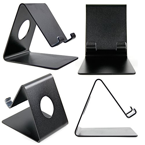 DURAGADGET Ultra-Contemporary Metal Smartphone Stand in Black Aluminium - Compatible with the Jolla - In Jolla Shops La