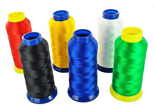 –Bobina filo ricamo ricamare macchina industriale familliale–Mix Colore/lotto di 6 Akacha