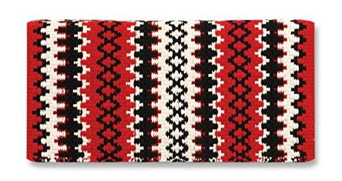 Mayatex Arroyo Seco Saddle Blanket, Red/Cream/Black, 38 x 34-Inch ()