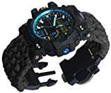 Blue Military Paracord Survival Whistles Sport Swimming Wrist Watch Tactical Bracelet Compass
