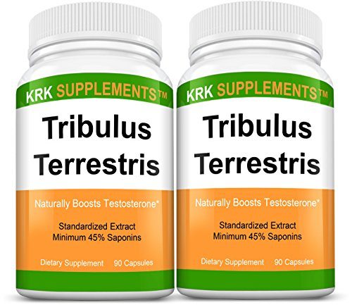 2 Bottles Tribulus Terrestris 1000mg Per Serving 180 Total Capsules KRK Supplements