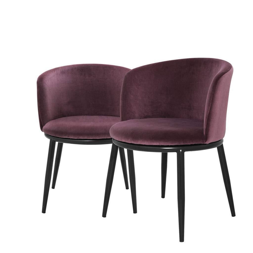 Mid Century Modern Purple Dining Chairs Eichholtz Filmore Plum Purple Upholstered Velvet Dining Room Chair Set Of 2 Buy Online In Aruba At Aruba Desertcart Com Productid 83636226