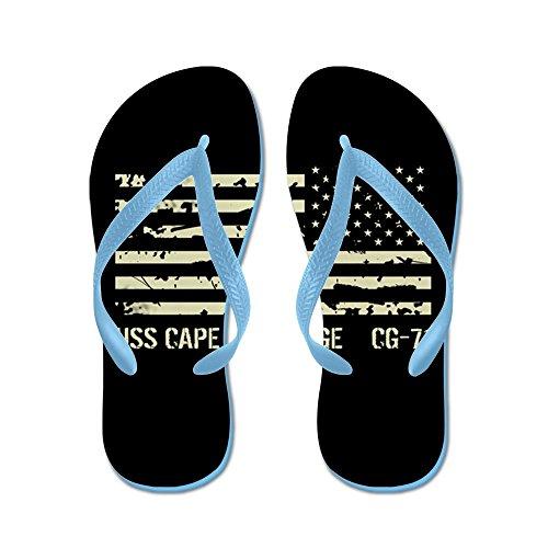 Cafepress Uss Cape St. George - Infradito, Divertenti Sandali Infradito, Sandali Da Spiaggia Blu Caraibico