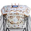 Shopping Cart Cover High Chair Cover for Baby or Toddler, Standard Grocery Cart Seat Cover and Restaurant Highchair Cover. Unisex Design for Baby Boys and Baby Girls. Baby Shower and Newborn Registry
